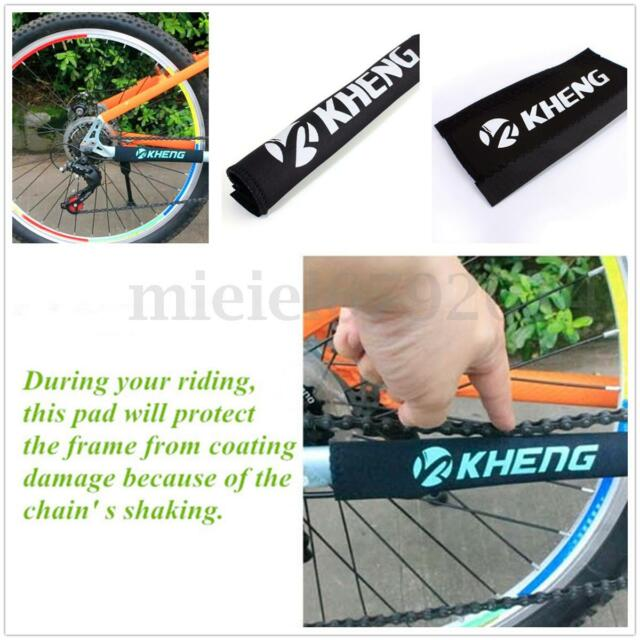 Black Bike Bicycle Chainstay Frame Protector Cover Chain Stay Guard ...