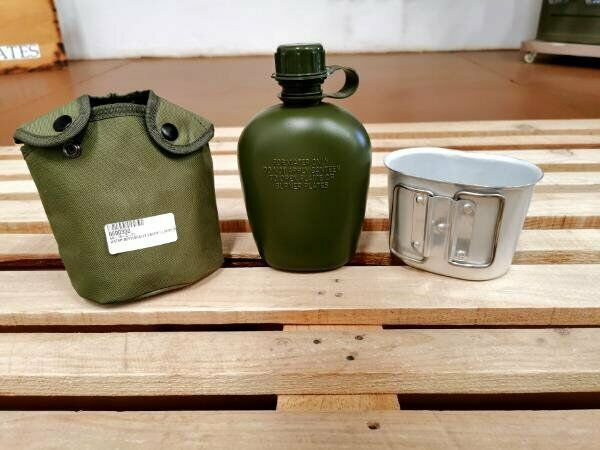 1 L Water bottle with fire bucket and pouch