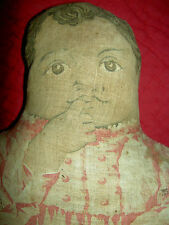 """Antique 1892, Arnold Print Works rare black cloth, """"TOPSY"""" or """"Pickaninny"""" doll"""