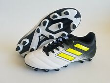 dc4f600287cc Adidas Ace 17.4 FxG Firm Ground White Black Volt Mens Cleats Soccer Size 6.5