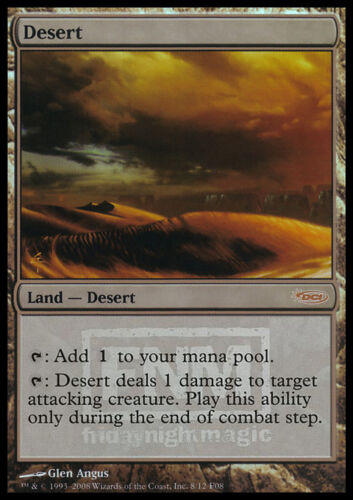 MAGIC DESERTO FNM PROMO MTG DESERT FOIL