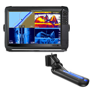 Lowrance HDS-12 Carbon With Active Imaging 3-in-1 Transom Mount Transducer LOWRA