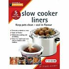 15x Slow Cooker Liners Transparent No Mess on Pots Bags Oval Slow Cookers