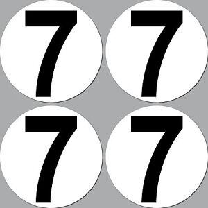 4-autocollant-15cm-debut-numero-7-chiffre-auto-Courses-Racing-Kart-GO
