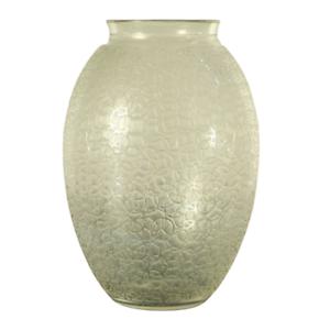Daum-Nancy-Art-Deco-Kristall-Glas-Vase-Etched-France-28-cm-Vintage-30er-Jahre