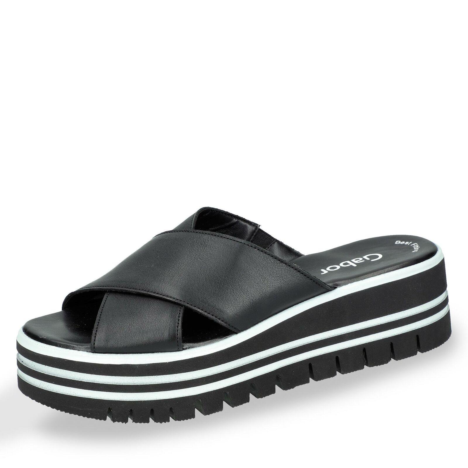 Gabor Damen Pantolette Slipper Schlupfschuhe Sommerschuhe Sommer Schuhe schwarz