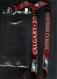 2011-CALGARY-FLAMES-HERITAGE-CLASSIC-LANYARD-TICKET-HOLDER-MONTREAL-CANADIENS