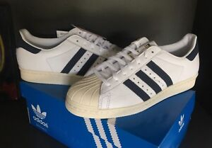 adidas superstar 80s white blue