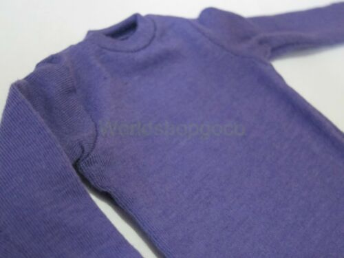 "1//6 Scale Tee Hot Purple Long Sleeves T-Shirt For 12/"" Action Figure Toys"