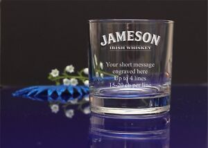 58d5cd9efe6 Image is loading Personalised-JAMESON-logo-engraved-whisky-glass-Birthday -Christmas-