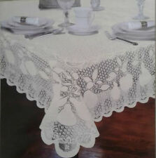 "Fine Lace Ivory Oblong Tablecloth Better Home 54""x72"" 100% Polyester"