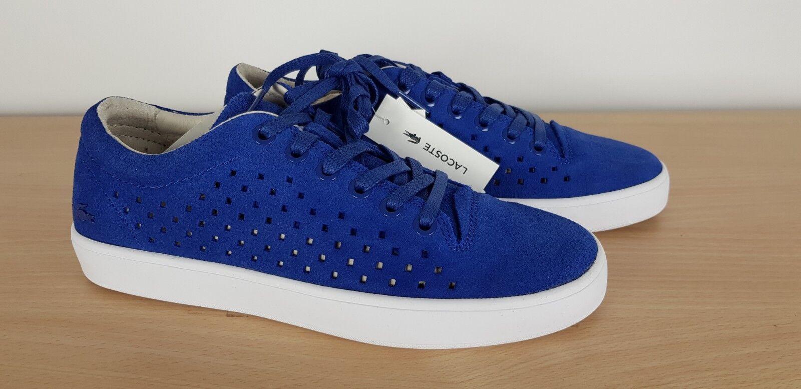 Lacoste Femmes Bleu Daim Tamora Lacets Casual Baskets Escarpins Chaussures UK 4