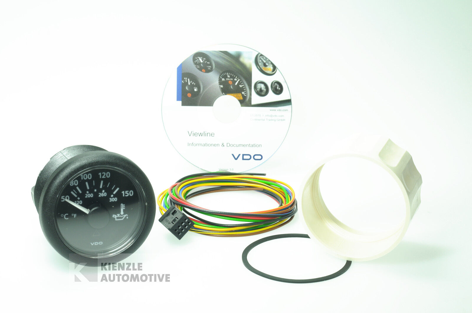 VDO Viewline Indicatore Temperatura Acqua Frossoda 120°, 1224 Volt, Ø 52 MM