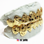 SOLID 10K 14K YELLOW GOLD NUGGET CUT DESIGN HANDMADE CUSTOM FIT GRILL GRILLZ