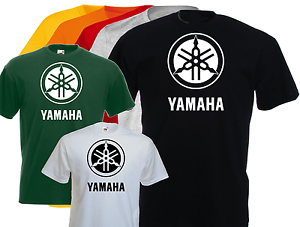 NEUF vintage S L T-shirt logo YAMAHA M nippon biker XL moto motard