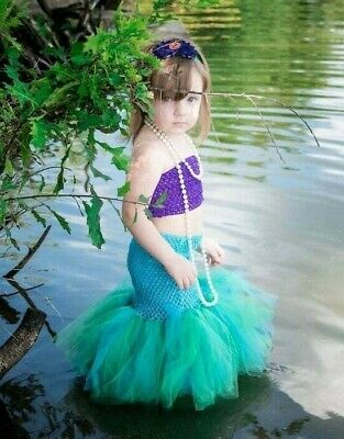 Baby Infant Toddler Girl Child Mermaid top and tutu