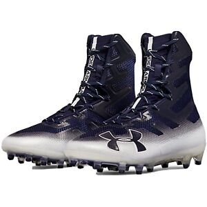 New-Under-Armour-Highlight-MC-Football-Cleats-Navy-3000177-MSRP-130-Size-8