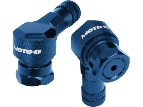 Moto-D Blue 11.3mm 90 Degree Anodized CNC Aluminum Motorcycle Tire Valve Stem