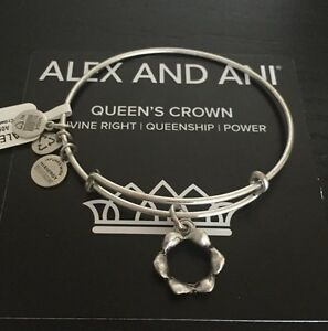 Details About Nwt Alex And Ani Queen S Crown Russian Silver Charm Bangle Rare Discontinued