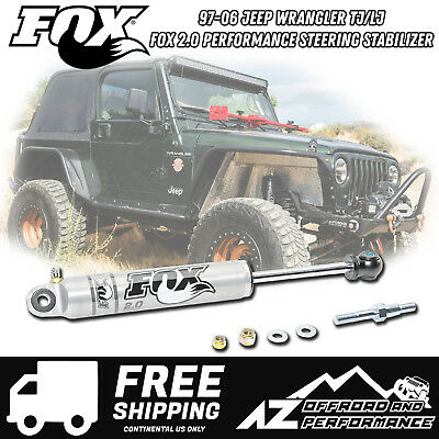 2007-2018 Jeep Wrangler JK Fox 2.0 Performance Series IFP Steering Stabilizer