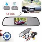 4.3'' LCD Car Rear View Mirror Monitor LED Night Vision Reverse Backup HD Camera