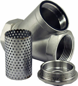 Inline Y Filter Strainer 304 Stainless Steel Pipe Fitting