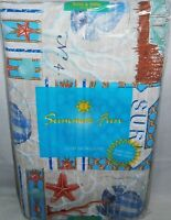 Summertime Fun Vinyl Tablecloth Wonders Of The Sea 52 X 90 Oblong Seats 6-8