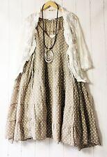 Moonshine Kleid  54 56 58 Taupe  Lagenlook Pünktchen Dots Sommer Neu