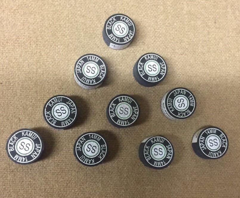 Kamui zwart Super Soft Pool Cue Tip 14mm (10 Tips) GRATIS Scheepvaart