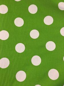 Canvas cotton Big Polka Dot Print Fabric For Bags Cushions