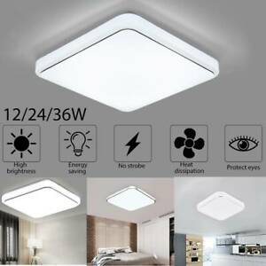 12W Square Crystal LED Ceiling Down Light Panel Wall Kitchen Bathroom Flush Lamp