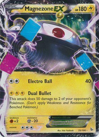 Magnezone EX Ultra Rare Flashfire 35//106 Pokemon TCG LP