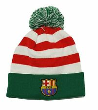 FC Barcelona Beanie Christmas Adults Mens Soccer Football NEW POM Cap Hat