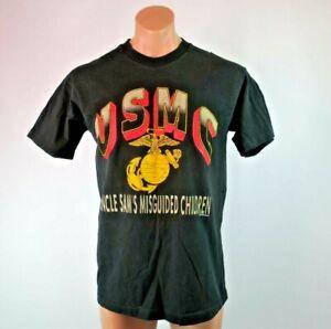 VTG-90s-1992-USMC-Uncle-Sam-Misguided-Children-Marines-Military-USA-sz-L-T-Shirt