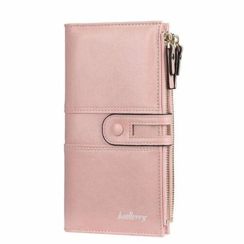 Nom graver Long Cuir Carte Support Téléphone Porte-monnaie embrayage sac a main