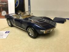 1/24 Franklin Mint Targa Blue 1972 Corvette LT-1 LT1 Convertible B11F056 # 195