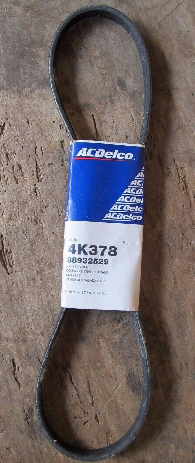 AC DELCO 4K378 Replacement Belt