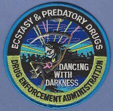 DEA DRUG ENFORCEMENT ADMINISTRATION ECSTACY & PREDATORY DRUGS UNIT POLICE PATCH