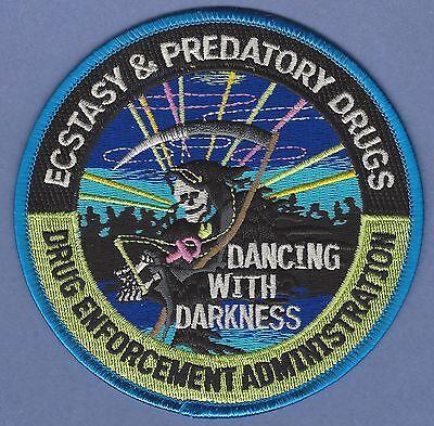 DEA DRUG ENFORCEMENT ADMINISTRATION ECSTACY /& CLUB DRUGS UNIT SHOULDER PATCH