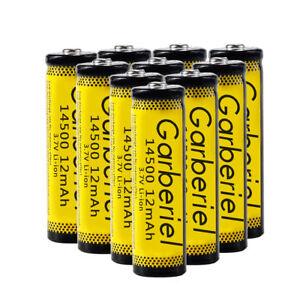 10PCS-14500-3-7V-1200mAH-BRC-Lithium-Rechargeable-Li-ion-Battery-For-Flashlight