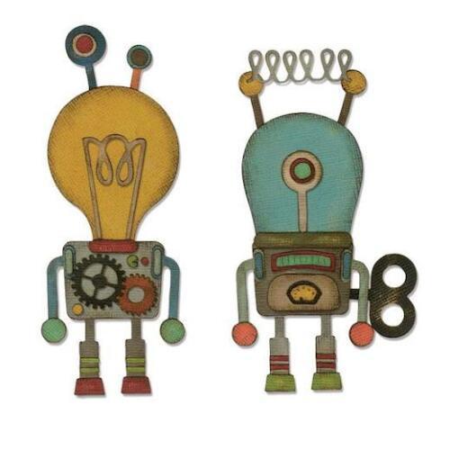 Robotic 664162 Sizzix Thinlits Die Set by Tim Holtz 14pcs