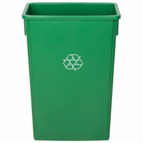 Recycle Bin Trash Can Slim Janitorial Heavy-Duty Establishments Green 23 Gal New