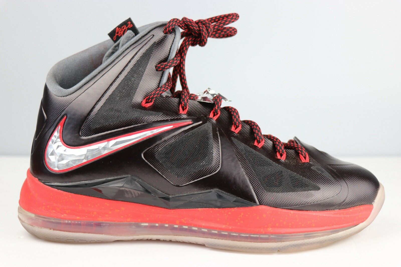 new concept f8fef fac54 ... top quality nike chrome lebron x plus 10 black chrome nike university  red gray 598360 001