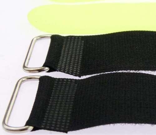 10x Kabelklettband 40 cm x 40 mm neon gelb Klettband Klett Kabel Binder Band Öse