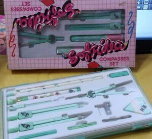 Compasso set 13pezzi 105x210x25  verde acqua c/scatola plastica Atlas