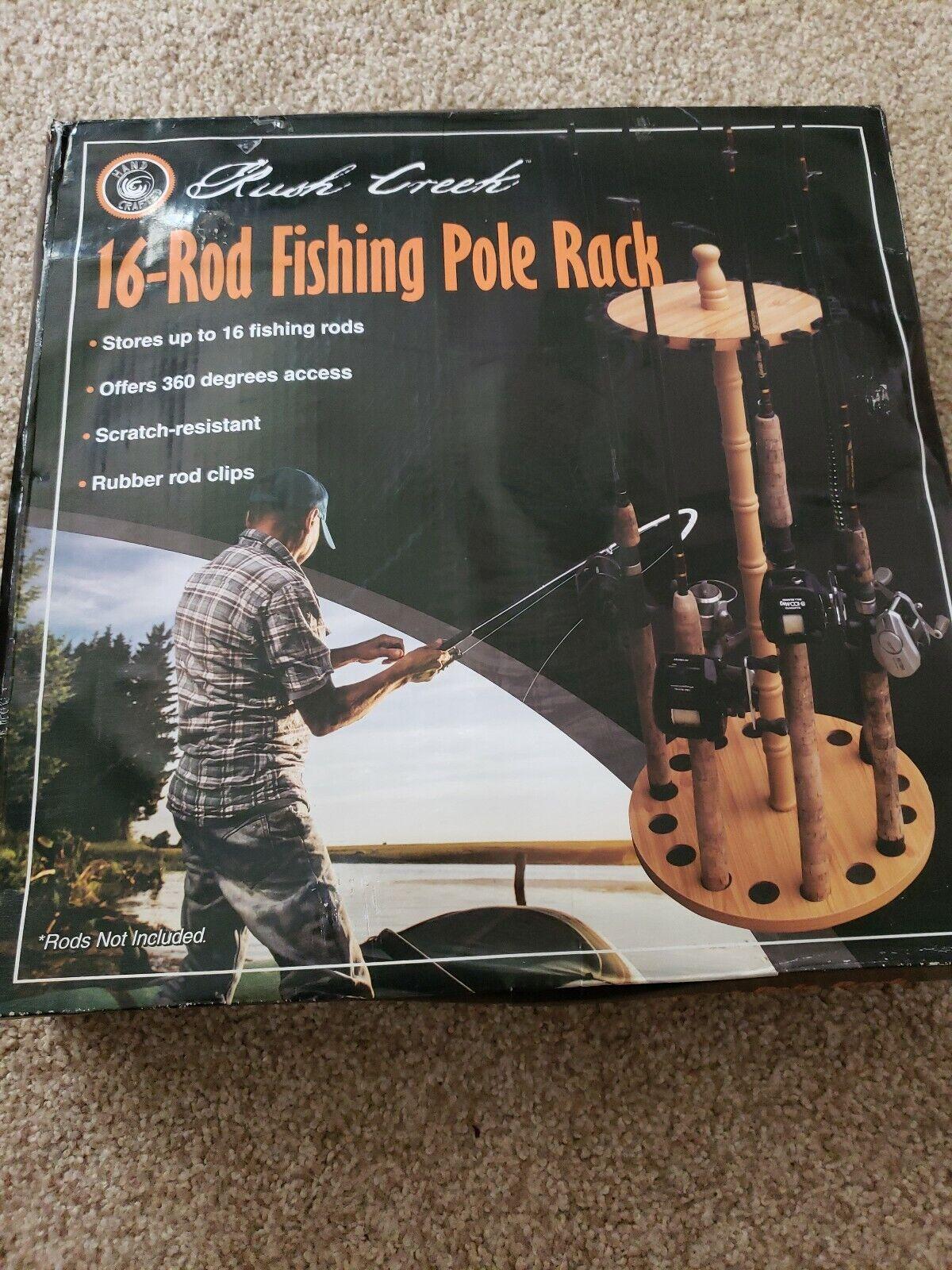 Rush Creek Creations Round 16 Fishing Rod Rack