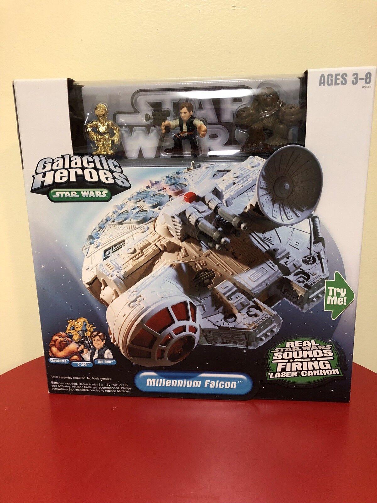 Star wars millennium falcon galaktische helden solo & chewbacca nib ungeöffnet.