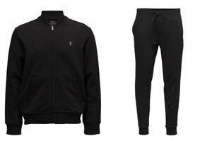 a39d8f69 Details about Ralph Lauren Polo Double Knit Tech Fleece Bomber Jacket &  Pants Track Suit New
