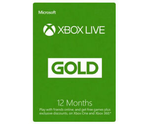 Details about Microsoft - Xbox Live Gold 12 Month Membership (USA Region)