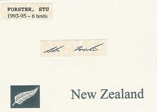 Stu ForsterNZ ALL BLACK SIGNED RUGBY CARD